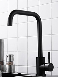 cheap -Kitchen faucet - Single Handle One Hole Standard Spout / Tall / ­High Arc Contemporary Kitchen Taps