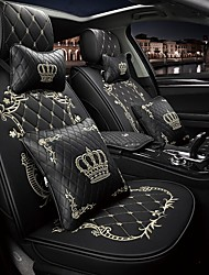 cheap -ODEER Car Seat Covers Headrest & Waist Cushion Kits Black / Pink / Black Gold / Black / White PU Leather Common For universal All years All Models