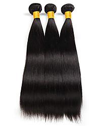 voordelige -3 bundels Braziliaans haar ZijdeRecht Niet verwerkt Menselijk Haar Bundle Hair Extentions van mensenhaar Patroon 10-26 inch(es) Natuurlijke Kleur Menselijk haar weeft Geweven Naturel nieuwe collectie