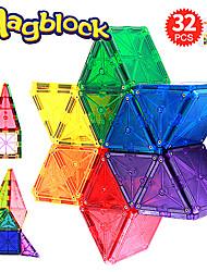 Недорогие -Магнитные плитки 32 pcs Креатив Геометрический узор Градиент цвета Все Мальчики Девочки Игрушки Подарок