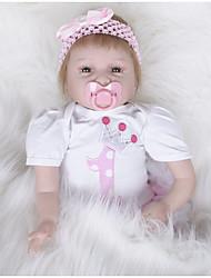 cheap -FeelWind Reborn Doll Girl Doll Baby Girl 22 inch Silicone Vinyl - lifelike Handmade Cute Kids / Teen Non-toxic Kid's Unisex Toy Gift