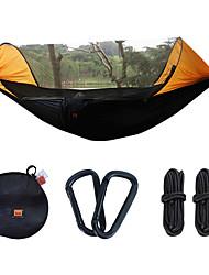 お買い得  -キャンプ用蚊帳付きハンモック アウトドア ライトウェイト, 速乾性, 通気性 ナイロン のために 釣り / キャンピング - 1人 グリーン / オレンジ / アーミーグリーン