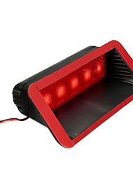 Недорогие -12 В автомобиль 5 светодиодный предупреждающий задний хвост 3-й третий стоп-сигнал высокая гора фонарь красный