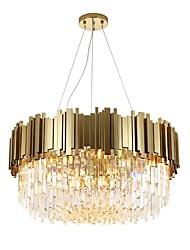 Недорогие -QIHengZhaoMing 8-Light Кристаллы Люстры и лампы Рассеянное освещение Окрашенные отделки Металл 110-120Вольт / 220-240Вольт Теплый белый Лампочки включены