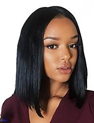 economico -Capello vergine 360 frontale Parrucca Brasiliano Liscio Parrucca 130% 150% Densità dei capelli Da donna Di tendenza Comodo 100% Vergine Naturale Per donna Corto Parrucche di capelli umani con retina