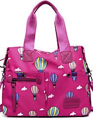 cheap -Women's Bags Nylon Tote Cartoon Black / Pink / Purple