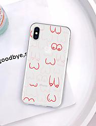 رخيصةأون -غطاء من أجل Apple iPhone XR / iPhone XS Max نموذج غطاء خلفي امرآة مثيرة / كارتون ناعم TPU إلى iPhone XS / iPhone XR / iPhone XS Max