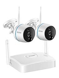 Недорогие -Система видеонаблюдения ZOSI CCTV 1080p Wi-Fi Mini NVR Kit Видеонаблюдение Беспроводная IP-камера, функция PIR, запись SD-карты