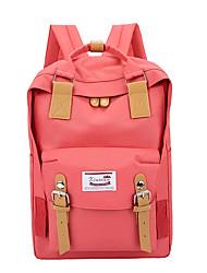 Недорогие -Жен. Мешки холст рюкзак Молнии Оранжевый / Розовый / Лиловый