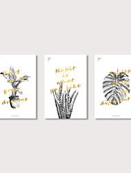 billige -Print Strukket Lærred Print - Moderne Blomstret / Botanisk Moderne