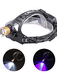Недорогие -U'King Налобные фонари Фары для велосипеда Светодиодная лампа LED 2 излучатели 1200 lm 4.0 Режим освещения с батарейками и зарядным устройством Масштабируемые, Фокусировка, Компактный размер