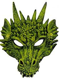 baratos -Máscara Inspirado por Fantasias Dragão Anime Acessórios para Cosplay Máscara Couro de Poliuretano Trajes da Noite das Bruxas