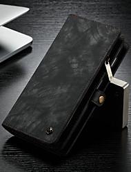 Недорогие -Кейс для Назначение SSamsung Galaxy Galaxy S10 Plus Кошелек / Бумажник для карт / со стендом Чехол Однотонный Твердый Кожа PU