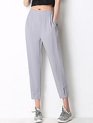 זול -מכנסי ההרמון של נשים - בצבע ורוד גבוה המותניים