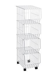 Недорогие -Кухонная организация Коробки для хранения Металл Новый дизайн / Аксессуар для хранения / Креатив 1 комплект