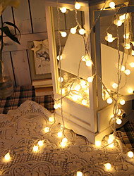 Недорогие -Батарея 1.5 м 10led шариковая лампа мини фея сад свет строка для елки домашний занавес декор