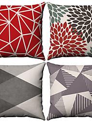 levne -4.0 ks Bavlna / Len Povlak na polštář, Jednoduchý Geometrické tvary Jednoduchý Geometrik