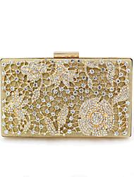 abordables -Mujer Bolsos Legierung Bolso de Noche Detalles de Cristal / Brillante Diseño Geométrico Dorado