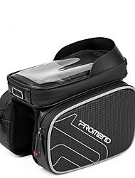 Недорогие -PROMEND Сотовый телефон сумка / Бардачок на раму 6.2 дюймовый Велоспорт для Велосипедный спорт Черный