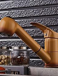 baratos -Torneira de Cozinha - Monocomando e Uma Abertura Haste Móvel - Horizontal e Vertical Moderna Kitchen Taps