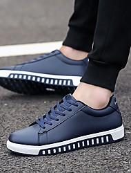 povoljno -Muškarci Udobne cipele PU Jesen zima Sneakers Crn / Crvena / Plava