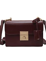 Χαμηλού Κόστους -Γυναικεία Τσάντες PU Τσάντα ώμου Συμπαγές Χρώμα Μαύρο / Καφέ / Κρασί