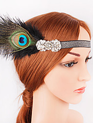 cheap -The Great Gatsby 1920s The Great Gatsby Costume Women's Flapper Headband Head Jewelry Black Vintage Cosplay Party Prom Festival