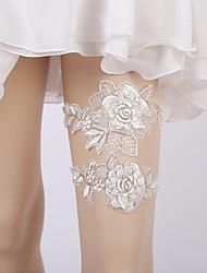 ราคาถูก -ลูกไม้ เกี่ยวกับเจ้าสาว Wedding Garter กับ ลูกไม้ / ดอกไม้ สายรัด งานแต่งงาน / ปาร์ตี้