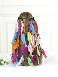 저렴한 -집시 아메리카 인디언의 헤드 피스 삼바 머리 장식 보헤미안 레트로 에스닉 할로윈 여성용 어른' 제품 파티 Halloween 제전 나무 깃털 플러쉬 깃털 빈티지 헤드 웨어