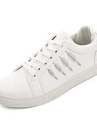 Χαμηλού Κόστους -Ανδρικά Παπούτσια άνεσης Φο Δέρμα Άνοιξη Αθλητικά Παπούτσια Λευκό / Μαύρο / Μαύρο / Άσπρο