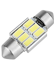 baratos -1 Peça Festoon Carro Lâmpadas 6 W SMD 5630 6 LED Luz Diurna / Lâmpada Para Placa de Veículo / Iluminação interior Para Volkswagen / Mercedes-Benz / Honda Todos os Anos