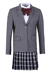 abordables -Estudiante / Uniforme de escuela Colegialas JK Uniform Abrigo Disfrace de Cosplay Mujer Chica Adulto Escuela secundaria Para Halloween Rendimiento Viscosa Poliéster Un Color Chaqueta Navidad