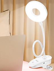 abordables -brelong usb rechargeable tactile trois vitesses gradation avec lampe de table clip 1 pc