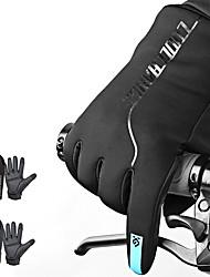 Недорогие -CoolChange Спортивные перчатки Перчатки для сенсорного экрана Горные велосипеды Водонепроницаемость С защитой от ветра Сохраняет тепло Полный палец Зима Микроволокно Силиконовые Поли уретан Мотобайк