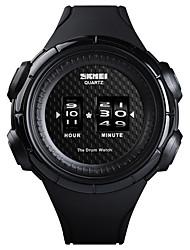 Недорогие -SKMEI Муж. Спортивные часы Наручные часы электронные часы Японский Японский кварц силиконовый Черный 50 m Защита от влаги Творчество Новый дизайн Цифровой Роскошь Мода - Белый Черный / Один год