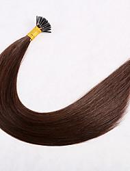 저렴한 -1 묶음 브라질리언 헤어 직진 버진 헤어 익스텐션 18 inch 골드 브라운 인간의 머리 되죠 확장자 털실 천연 인간의 머리카락 확장 여성용