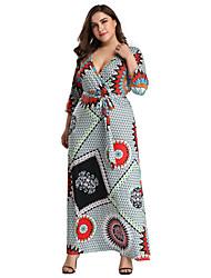 baratos -Mulheres Boho Tubinho Vestido - Estampado Longo