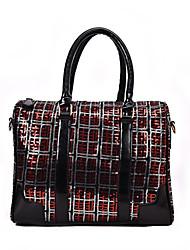 preiswerte -Damen Taschen PU Tragetasche Reißverschluss Geometrische Muster Weiß / Rote / Regenbogen