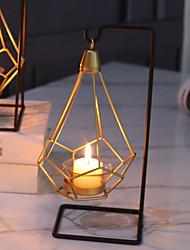 levne -Moderní soudobé / minimalistický styl Sklo / Žehlička Svícny Nové / Svícen na jednu svíci / Svícen 1ks, Svíčka / držák svíčky
