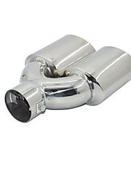 Недорогие -1 шт. 60 mm Советы по выхлопной трубе выпрямленный Нержавеющая сталь Глушители выхлопа Назначение Универсальный Дженерал Моторс Все года
