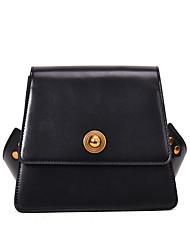 Χαμηλού Κόστους -Γυναικεία Τσάντες PU Τσάντα ώμου Συμπαγές Χρώμα Μαύρο / Καφέ