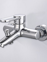 Χαμηλού Κόστους -Μπάνιο βρύση νεροχύτη - Εκτεταμένο Γαλβανισμένο Άλλο Ενιαία Χειριστείτε δύο τρύπεςBath Taps