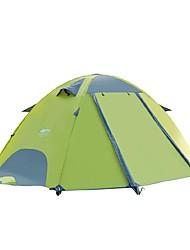 Недорогие -DesertFox® 2 человека Туристические палатки На открытом воздухе Легкость С защитой от ветра Дожденепроницаемый Двухслойные зонты Карниза Палатка >3000 mm для Пляж  Походы / туризм / спелеология Пикник