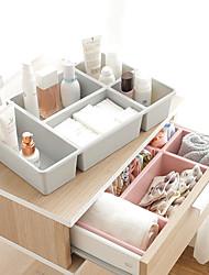 abordables -Almacenamiento Organización Organizador cosmético del maquillaje El plastico Forma rectangular Portátil / Creativo / Multicapa