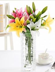 Недорогие -Искусственные Цветы 3 Филиал Классический Стиль Современный современный Лилии Букеты на стол