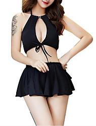 abordables -Femme Costumes Vêtement de nuit Dos Nu, Couleur Pleine