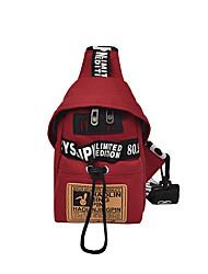 hesapli -Kadın's Çantalar Tuval Sling Omuz Çantaları için Günlük Siyah / YAKUT / Gri
