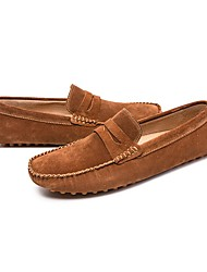 זול -בגדי ריקוד גברים נעלי נוחות סוויד קיץ & אביב נעליים ללא שרוכים אפור / חום / כחול