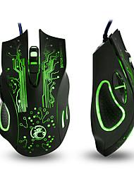 Недорогие -IMICE X9 Проводной USB Gaming Mouse Светодиодный свет 800/1200/1600/2400 dpi 4 Регулируемые уровни DPI 6 pcs Ключи