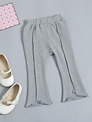 abordables -bébé Fille Actif / Chic de Rue Quotidien / Sortie Couleur Pleine Coton / Spandex Pantalons Gris